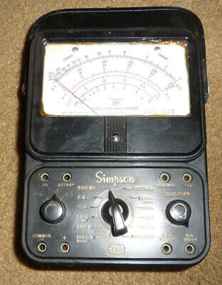 Simpson 260 Series 3 Volt Ohm Milliammeter Vintage Analog Multimeter Working Ok