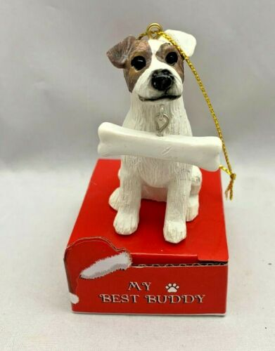 MY BEST BUDDY $20 JACK RUSSELL Ornament Put Name on Bone 2.75""