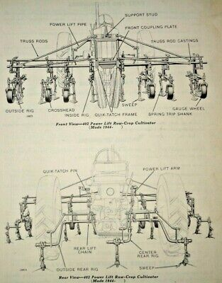 John Deere 400 Series Cultivator Parts Catalog Manual Jd Fits A To 70 Tractors