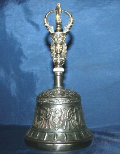 6 inch Meditation bell Bronze Ghanta Drilbu handmade Tibetan Buddhist Tantric