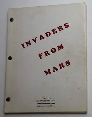 Invaders from Mars / John Tucker Battle 1950 Movie Script Screenplay, Sci Fi