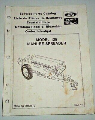 New Holland 125 Manure Spreader Parts Catalog Manual Book Nh Oem