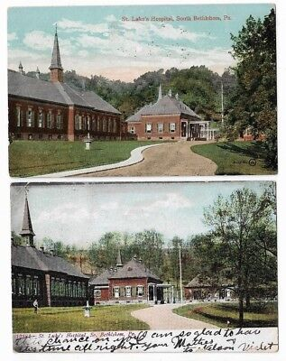 South Bethlehem PA Early Postcards: St. Luke's Hospital