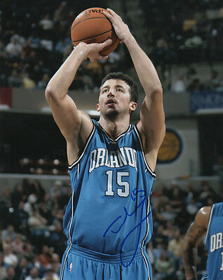 Hedo Turkoglu Orlando Magic Basketball Free Throw SIGNED 8x10 Photo COA!