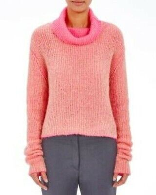$360 Acne Studios Vasaya Double Faced Turtleneck Sweater Jumper Beige Candy Pink