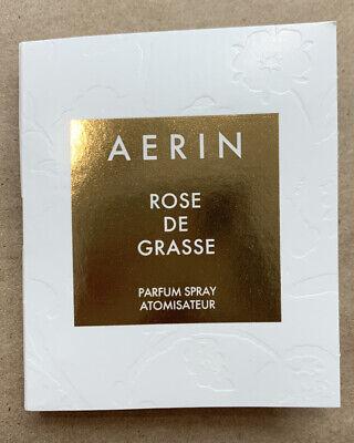 NEW Aerin ROSE DE GRASSE Eau de Parfum .07fl.oz /2.0ml SAMPLE CARDED