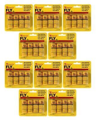10 Pack Colector de Mosca Atrapamoscas Rollo Pegamento Trampas para Insectos Fly