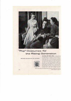 VINTAGE 1953 LES PAUL & MARY FORD GUITARS CAPITOL RECORDS POP COSTUMES AD PRINT - Capitol Costume