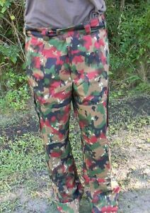 SWISS MILITARY ALPENFLAGE M-83 FIELD PANTS U.S. SIZE 32