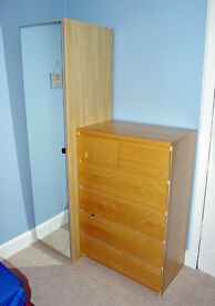 Ikea wardrobe and chest of drawers, VGC, £50 each