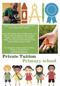 Primary tuition/Private tutor