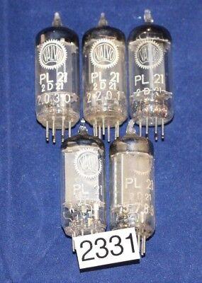 5 PL21 / 2D21 Thyratron-Röhre von Valvo (2331)