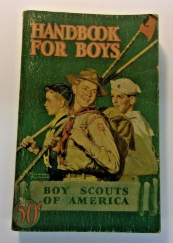 1942 Boy Scouts of American Revised HANDBOOK FOR BOYS Stated First Edition