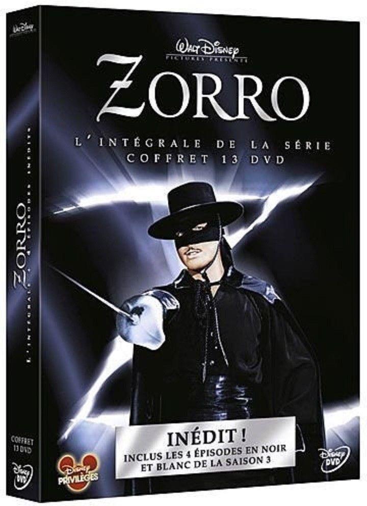 zorro - l'intégrale de la série (saisons 1 à 3 ) coffret 13 dvd neuf sous cello