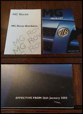 MG Range 2005 Brochure Price List ZR ZS ZT ZT-T TF Express Covers Options 6388