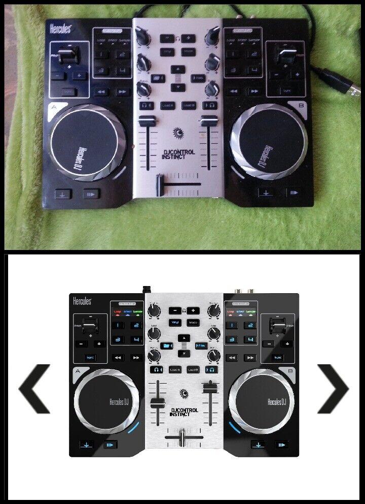 Hercules DJ Control Instinct USB DJ Controller with Audio Outputs   in  Norwich, Norfolk   Gumtree