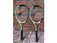 Two Slazenger adult tennis racquets