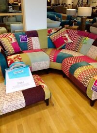 Dfs Patchwork Corner Sofa and Footstool Shout Collection