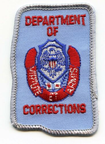 MISSISSIPPI MS STATE shape shaped DEPARTMENT OF CORRECTIONS DOC police HAT PATCH