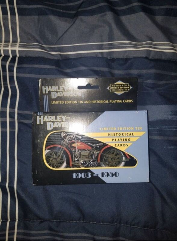 Harley Davidson Limited Edition Tin and Historical Playing Cards
