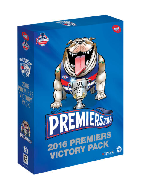 NEW AFL 2016 Premiers Victory Pack Western Bulldogs (DVD, 5-Disc Set) Final