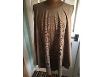 Excellent Condition Brown Suede Top