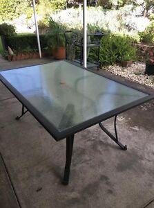 Outdoor Grey Glass Table ! LIKE NEW! Frankston Frankston Area Preview