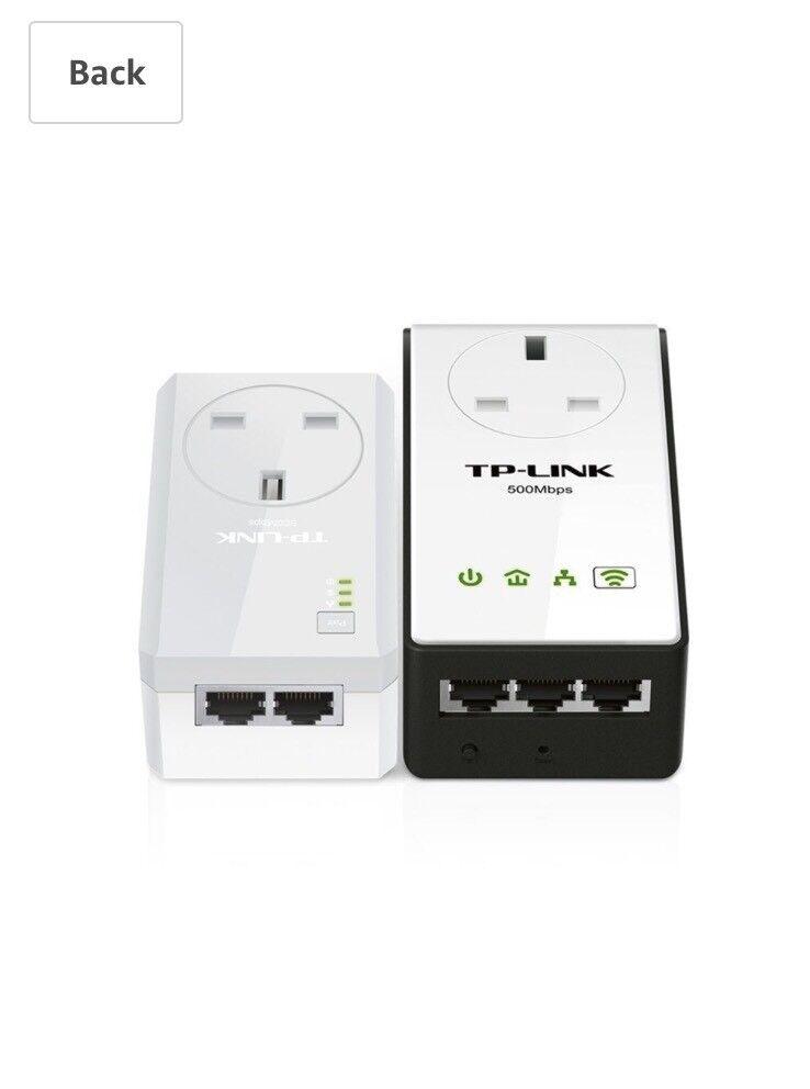 TP-LINK TL-WPA4230PKIT AV500 Powerline 300 M Wi-Fi Extender/Wi-Fi Booster/Hotspot