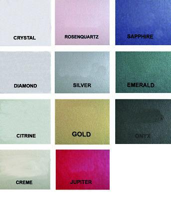 100 x Stardream MetallicPapier versch. Größen und Farben Bastelkarton schimmernd