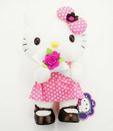 """Sanrio Hello Kitty Rose Bouquet 10"""" Plush Kidrobot Rare 2006"""