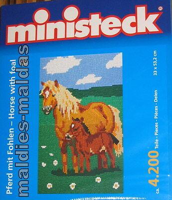 ministeck Pferd mit Fohlen ca. 4200 Teile NEU/OVP