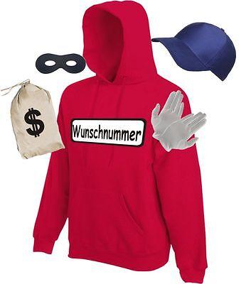 Kostüm für Panzerknacker Fans Gruppenkostüm Hoodie Sweatshirt Karneval -