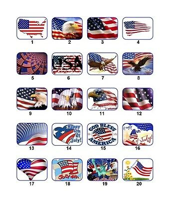 30 Personalized Return Address Us Flag Labels Buy 3 Get 1 Free Usf1