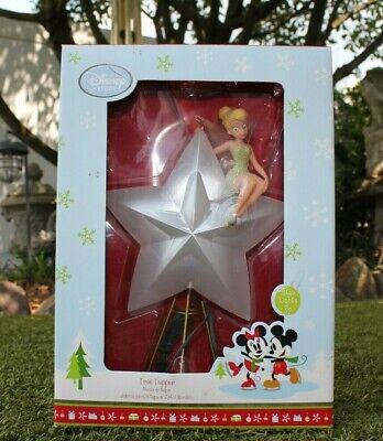 DISNEY STORE TINKER BELL CHRISTMAS TREE LIGHT UP STAR TOPPER NIB
