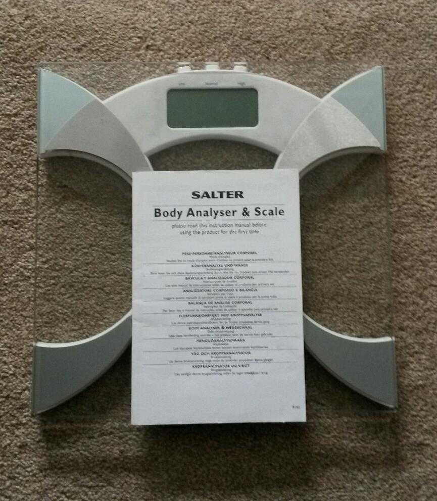 Salter Body Analyser And Scales Complete With Full Instructions