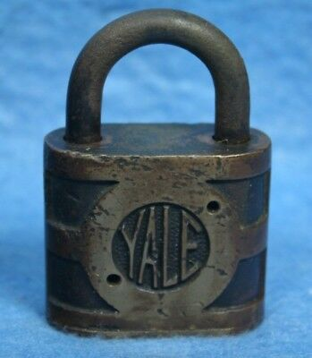 Used, VINTAGE HEAVY WEIGHT OLD YALE BRASS LOCK PADLOCK NO KEY for sale  Maryville