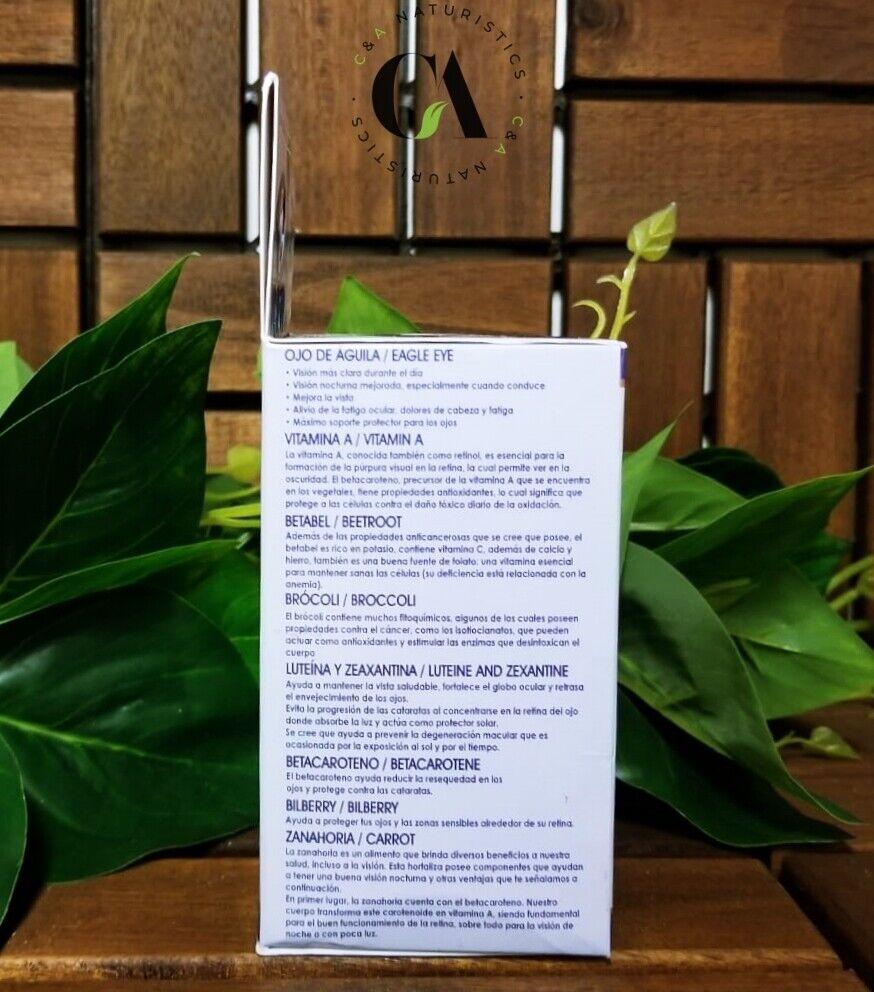 Vision Vitaminas para la Vista Ojo de Águila, Vitamina A, Betabel.*Cont.100 Tab* 3
