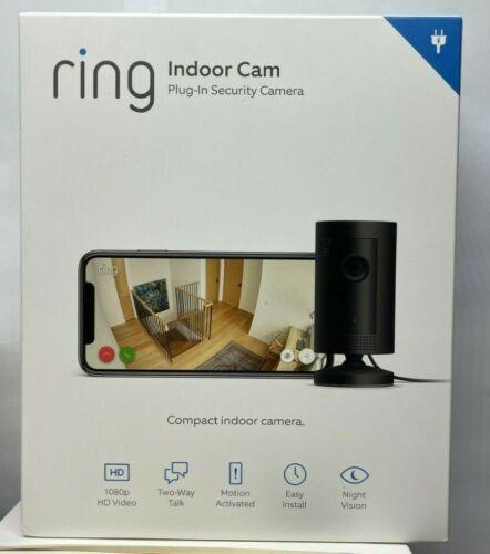 Ring Indoor Plug In Security Camera 1080p Wi-fi - Black Alexa