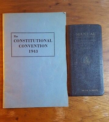 Constitutional Convention of Missouri, 1943, Manual and Program book, 2 books