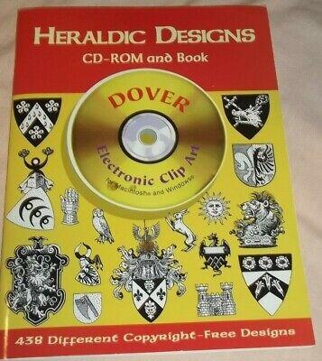 Heraldic Designs: CD-ROM and Book o fClip Art by Dover (1998, CD-ROM) NEW! - Heraldic Designs Cd