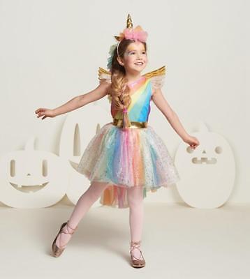 Kinder Karneval Mädchen Einhorn Kostüm Fancy Kleid Cosplay Party Geschenk ()