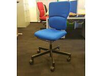 Steelcase operators chair cheap blue