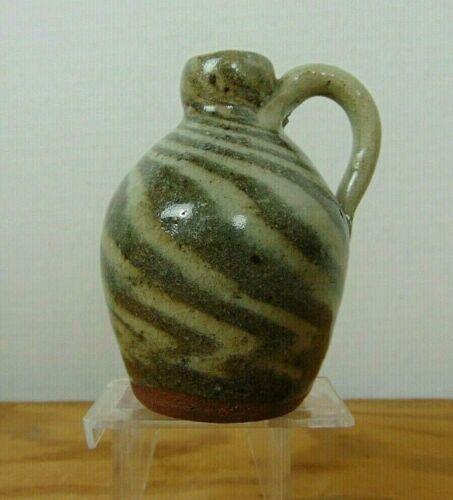 BB Burlon Craig Vale NC Pottery Swirl Jug Indigenous Southern Primitive Folk Art