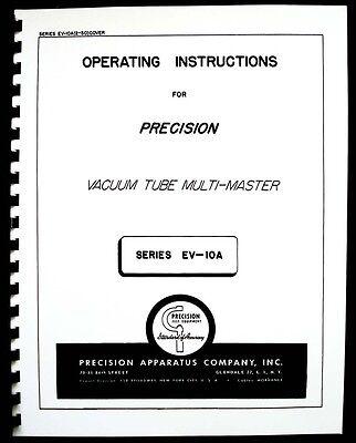 Precision Apparatus Ev-10a Vacuum Tube Multi-meter Manual
