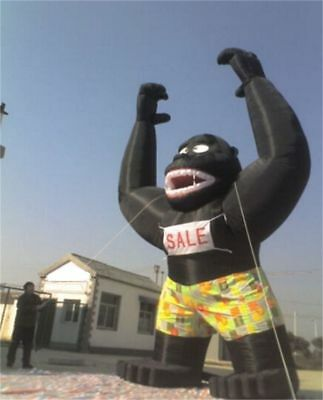 20Ft Inflatable Black Gorilla  Advertising Promotion With Blower NEW  - Inflatable Gorilla