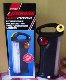 RECHARGEABLE LAMP - LANTERN UNIROSS CH8858 ( NEW , BOXED ) bargain for £ 19.50