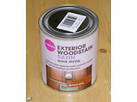Colours Exterior Woodstain, Antique Pine. Wood stain. Satin Quick drying, 750ml tin