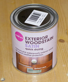 Colours Exterior Woodstain, Antique Pine. Satin Quick drying, 750ml tin