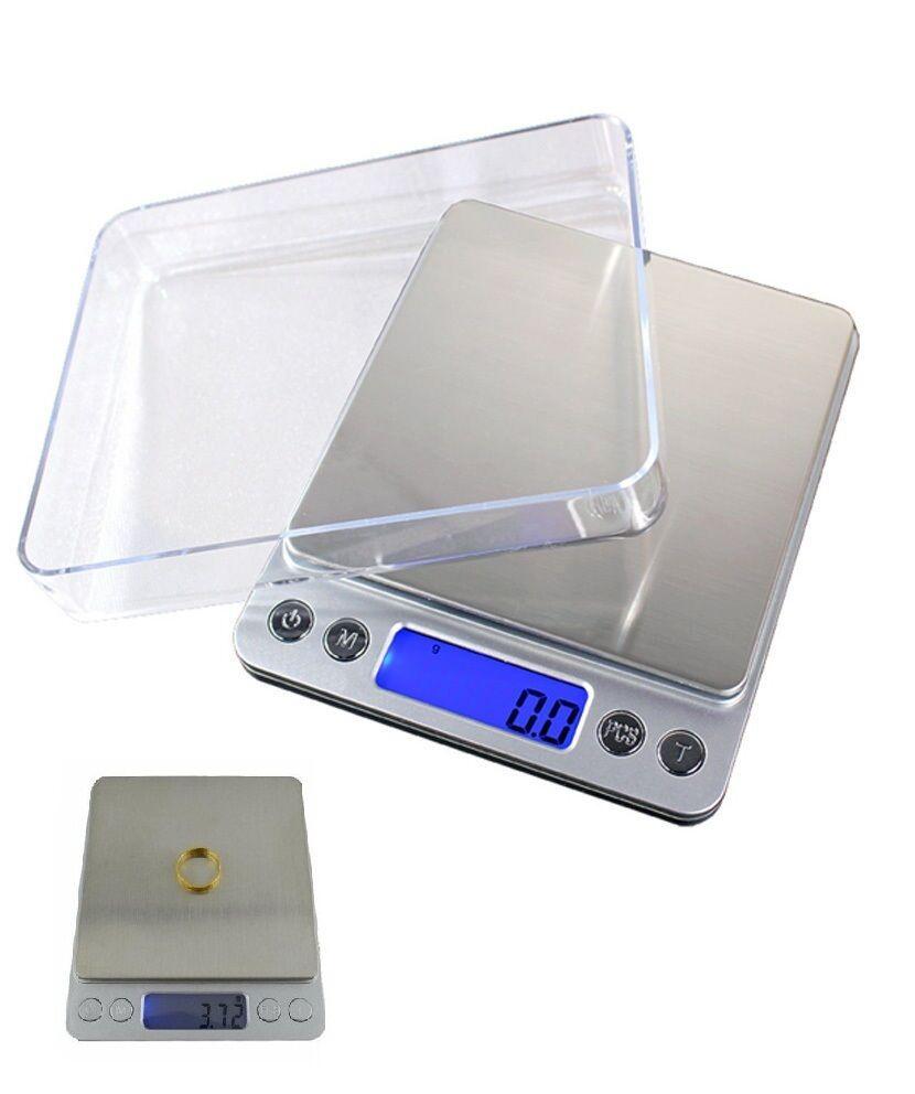 BILANCIA ELETTRONICA BILANCINO DI PRECISIONE DIGITALE LCD PESA 0.1g 2kg cucina