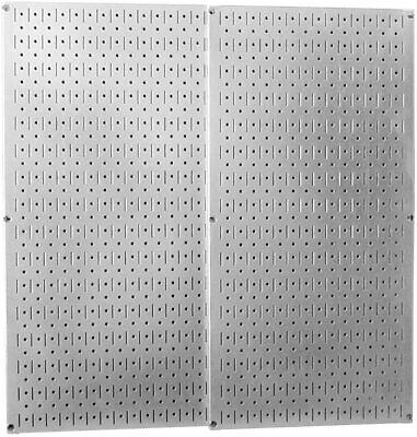 Metal Wall Pegboard 2 Pack 32 X 16 Steel Peg Board Panel Organizer Shelf Tools